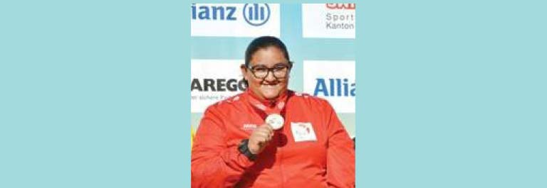 Mariam Al Humaidi Winner of international Shot Put
