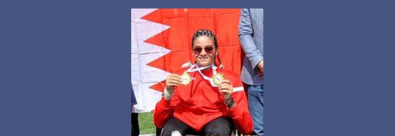 Ruba Alomari Winner of international Shot Put