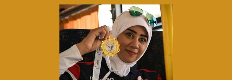 Zahra Klaeeb Winner of international Shot Put