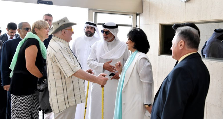 The visit to Bahrain of Nobel Peace Prize