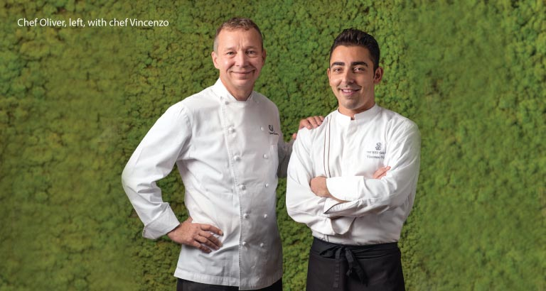 Chef de cuisine, chef Vincenzo Nigro at The Ritz-Carlton, Bahrain