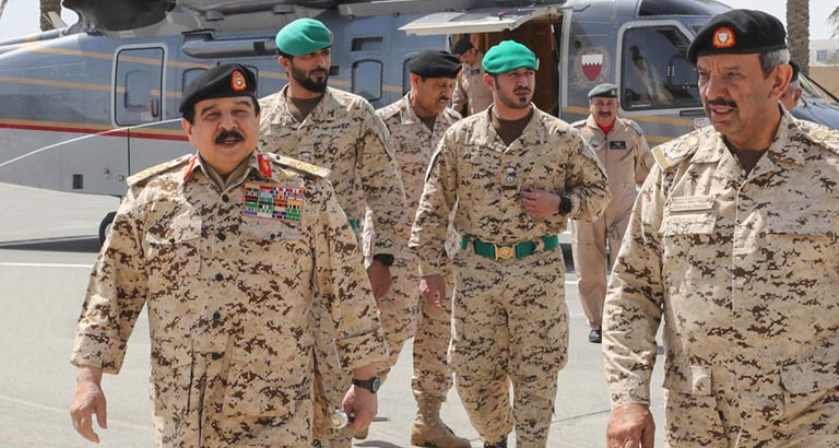 HM King Hamad hails BDF's noble medical contributions to combat COVID-19