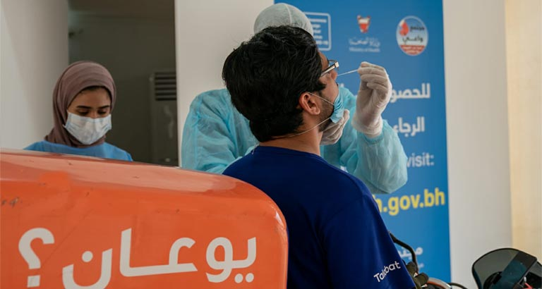 Delivery Drivers Tested in Bahrain for Coronavirus