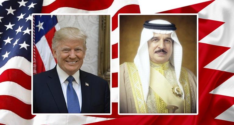 His Majesty King Hamad bin Isa Al-Khalifa and Trump