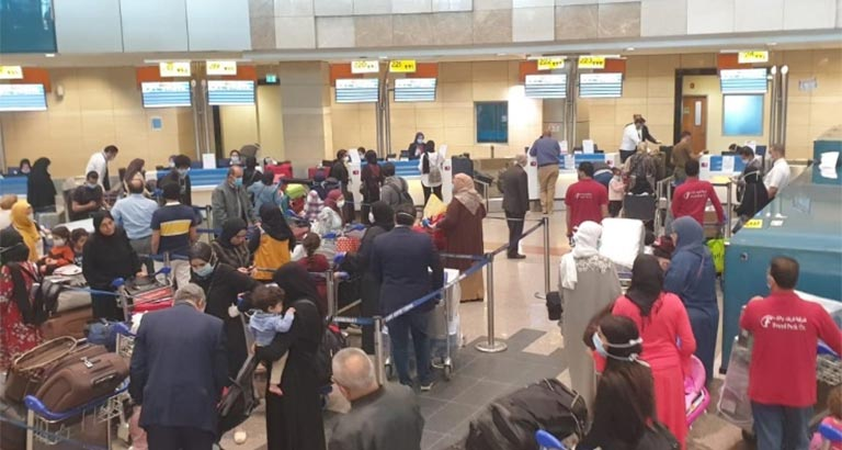 150 Citizens Evacuated from Egypt as part of Bahrain's COVID-19 Evacuation Efforts