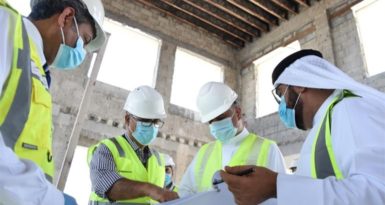 Bahrain's Transportation Minister Inspects Construction Work at Private Aviation Terminal