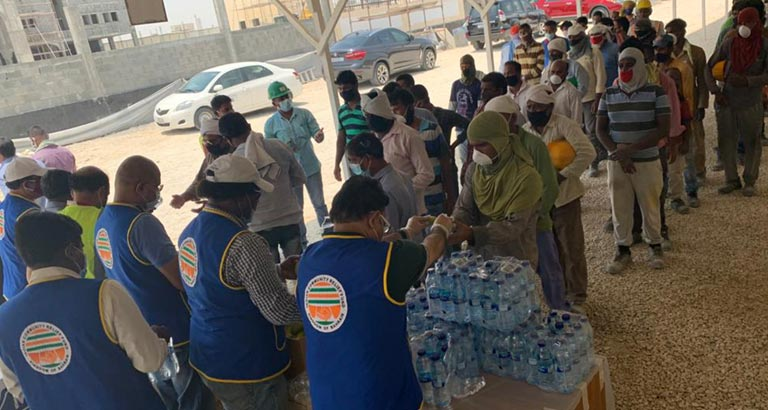 ICRF Distributes Refreshments and More to 250 Workers
