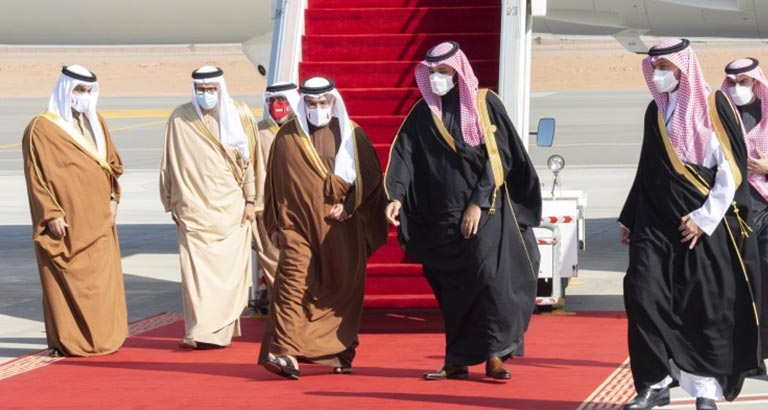 On behalf of HM the King, HRH the Crown Prince and Prime Minister arrives in the Kingdom of Saudi Arabia to lead Bahrain's delegation to the 41st GCC summit