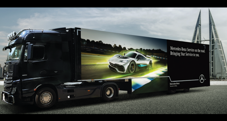 The Mercedes-Benz Mobile Service Truck now in Bahrain! | Al Haddad Motors