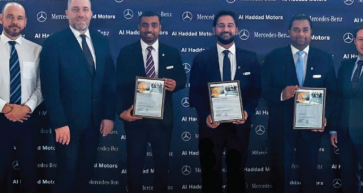 Tamim Anwar, Nabil Nizamudeen and Melville De Souza – the recipients of the Mercedes-Benz Certified Sales status.