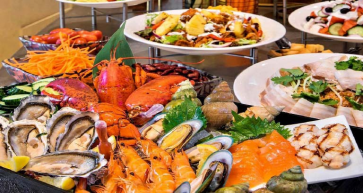seafood night buffet special at neyran restaurant