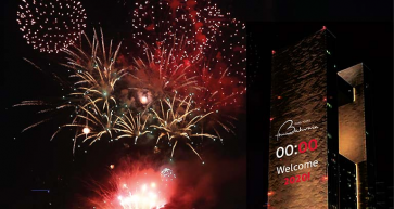 For the First Time in the Kingdom of Bahrain New year celebration 2020