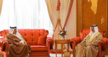 His Majesty King Hamad Hosts Meeting With HRH The Crown Prince And Prime Minister