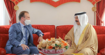Reverend Johnnie Moore Received by His Majesty King Hamad