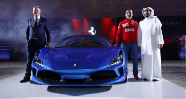 Ferrari F8 Tributo makes its regional debut as the most powerful V8 Ferrari is unveiled in Bahrain!