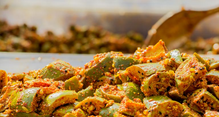 Here's a recipe for Mango pickle which you are sure to love!